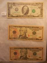 3-Ten Dollar Federal Reserve Notes1-,1998,& 2-2004 Star Notes