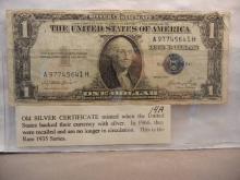 1935 One Dollar Silver Certificate