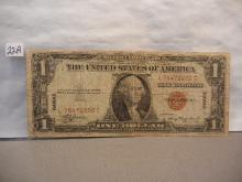 1935-A Brown Letter Hawaii Silver  Certificate