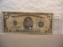 1934-A Five Dollar Silver Certificate