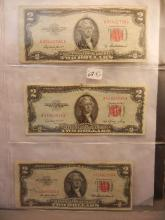 3-1953-A Two Dollar Red Seal United States Note , & One Star Note