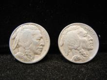 1935-D, 1938-D Buffalo Nickels