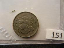 1867 Nickel Three Cent Piece