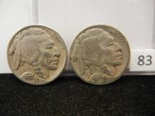 1936-D, 1937-D Buffalo Nickels