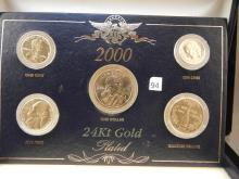2000   24 KT Gold Plated Coin Set