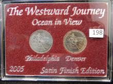 2005 Westward Journey Nickels Satin Finish Ocean in View