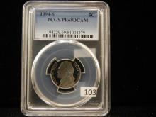 1994-S Jefferson Nickel PCGS PR69 DCAM