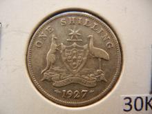 1927 Australian Shilling 92.5 % Silver