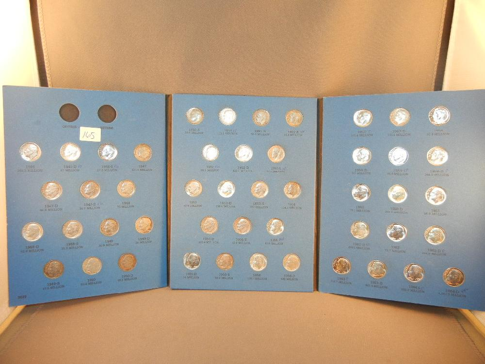 (48) Roosevelt Dimes 1946 to 1964 D PD&S all Silver