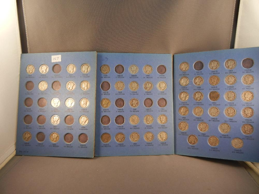 Book of Mercury Dimes , no key dates ( 56) Dimes 1916 to 1945D