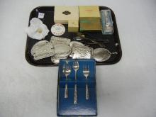 Gold Tooth, Belt, Greenville,Dayton OH & Alabama Adv. Jewelry Boxes, Baby Forks & Spoons, Fortune Spoons