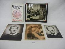 Remember With Me  By Ruth Lyons Book , Shirley Temple Photo