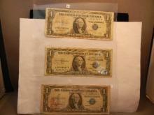3-1935 One Dollar Silver Certificates