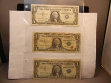3-1957 One Dollar Silver Certificates