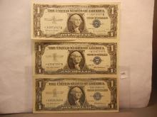 3-1957 One Dollar Silver Certificates Star Notes
