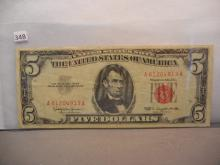 1963 Five Dollar Red Seal US Note