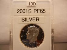 2001-S Proof 65 Silver Kennedy Half Dollar