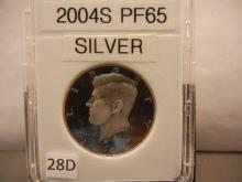 2004-S Proof 65 Silver Kennedy Half Dollar