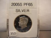 2005-S Proof 65 Silver Kennedy Half Dollar