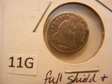 1857 Seated Liberty Half Dime