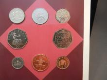 1993 United Kingdom mint set in government package.  Eight coins through 1 pound.