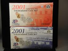 2001 P & D United States Mint Unc. Coin Set