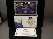 2001 United States Mint 50 State Quarters Proof Set