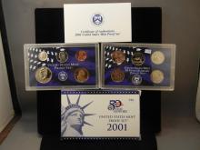 2001 50 State Quarters United States Proof Set