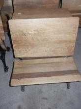 School Desk & Chair in Front W/Wrought Iron Frame; - Shipping Not Available for this Item Pick up Only!
