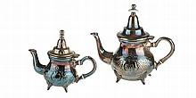 Lot of 2 Moroccan teapots