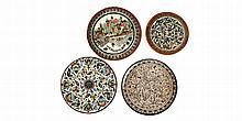 Lot of 4 Armenian ceramic plates