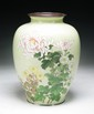 A Large & Fine Japanese Silver Ando Cloisonne Vase