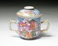 A Chinese Export Famille Rose Porcelain Caddy