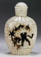A Chinese Antique Ivory Carved Snuff Bottle