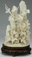 A Chinese Antique Ivory Carved Figure Group
