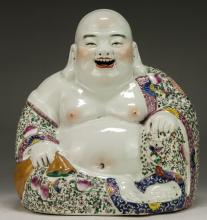 A Chinese Famille Rose Porcelain Buddha