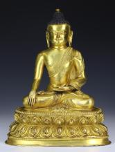 A Nepalese Antique Gilt Bronze SHAKYAMUNI