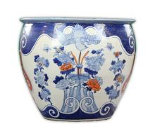 A Big Chinese Blue & White Iron Red Porcelain Jar