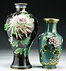 Two (2) Chinese Cloisonne Bronze Vases