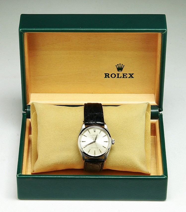 A ROLEX Men's Oyster Perpetual Air King Watch With Original Box