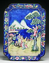 A Chinese Antique Cloisonne Bronze Platter