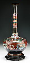 A Japanese Antique Cloisonne Bronze Vase