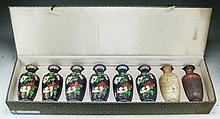 Set of Eight (8) Chinese Cloisonne Bronze Vases