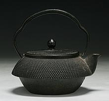 An Antique Japanese Iron Teapot