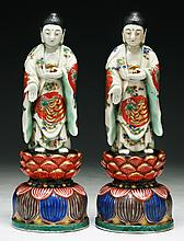 Pair of Japanese Antique Porcelain Figures