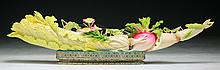 A Fine Chinese Antique Polychrome Ivory Cabbage
