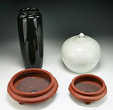 Four (4) Chinese Porcelain And Zisha Items