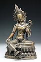 A Chinese Antique Gilt Bronze GREEN TARA