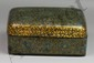 Chinese Gilt Delicately Painted Lacquered Trinket Box Late Qing