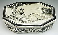 A Chinese Antique CIZHOU Kiln Porcelain Pillow